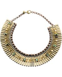 Iosselliani - Crystal Collar Necklace Gold - Lyst