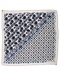 Louis Vuitton - Embellished Essential V Silk Scarf - Lyst