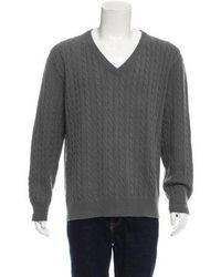 Louis Vuitton - Cashmere Cable Knit Sweater Grey - Lyst