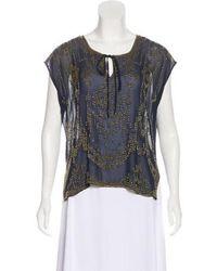 Gryphon - Silk Embellished Blouse - Lyst