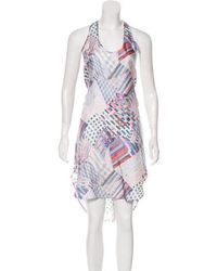 Tess Giberson - Sleeveless Silk Dress Multicolor - Lyst
