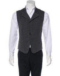 Ann Demeulemeester - Striped Twill Suit Vest - Lyst