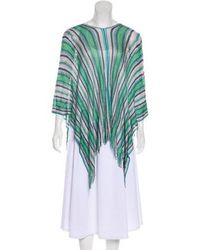 Missoni - Striped Knit Poncho - Lyst