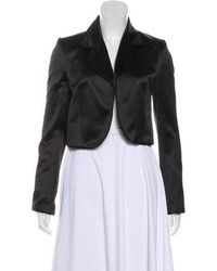 Dior - Satin Cropped Jacket - Lyst