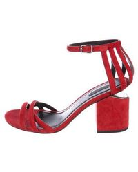29711ca1537 Alexander Wang - Suede Ankle-strap Sandals Red - Lyst. Chanel - Colorblock Platform  Sandals Black ...