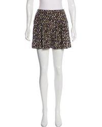 Halston - Printed Mini Shorts - Lyst