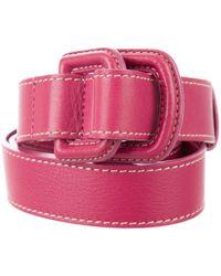 Loro Piana - Leather D-ring Belt Magenta - Lyst