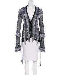 Lyst - Dex Open Front Back Lace Up Cardigan in Black 5e271800e