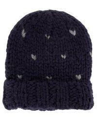 Rebecca Minkoff - Hand Knit Beanie W/ Tags Blue - Lyst