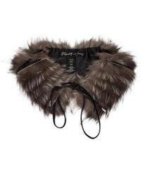 Elizabeth and James - Fox Fur Collar - Lyst