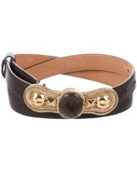 Roberto Cavalli - Leather Buckle Belt Black - Lyst