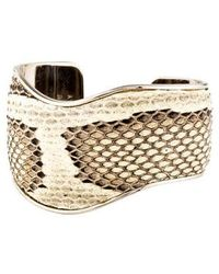 Tod's - Snakeskin Cuff Silver - Lyst