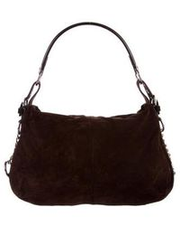Sergio Rossi - Suede & Leather Hobo Silver - Lyst