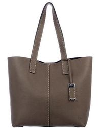 Michael Kors - Pebbled Leather Tote Silver - Lyst
