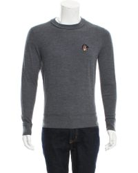 Givenchy - Rottweiler Embroidered Sweater Grey - Lyst