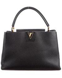 Louis Vuitton - Taurillon Capucines Gm Noir - Lyst