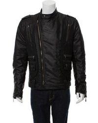 Just Cavalli - Quilted Biker Jacket Black - Lyst
