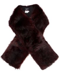Lanvin - Dyed Fur Stole W/ Tags Burgundy - Lyst