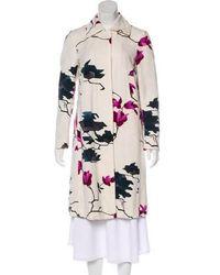 Dries Van Noten - Floral Knee-length Coat Multicolor - Lyst