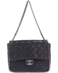 Chanel - Chain Around Maxi Flap Bag Silver - Lyst