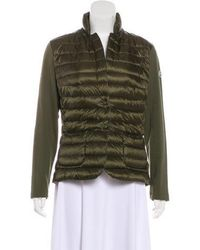 Moncler - Lightweight Quilted Jacket Olive - Lyst