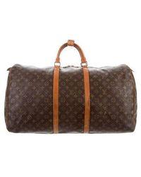 Louis Vuitton - Vintage Monogram Keepall 60 Brown - Lyst