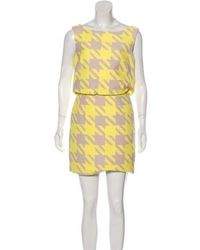 Timo Weiland - Printed Mini Dress Yellow - Lyst