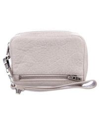 Alexander Wang - Leather Fumo Wristlet Grey - Lyst