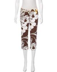 Tibi - Printed Mid-rise Pants - Lyst