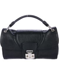 Carven - Grained Leather Satchel Black - Lyst