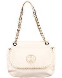 Tory Burch - Marion Leather Saddle Bag Gold - Lyst