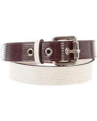 Louis Vuitton - Epi Tricolor Belt Plum - Lyst