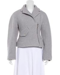 Carven - Zip-up Structured Jacket Grey - Lyst