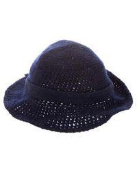 b45f1f8efa0 Lyst - Givenchy Trident Logo-print Hat in Blue