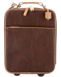 Etro - Coated Canvas Printed Carry-on Brown - Lyst