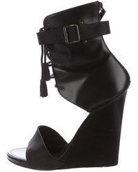 Proenza Schouler - Leather Wedge Sandals - Lyst