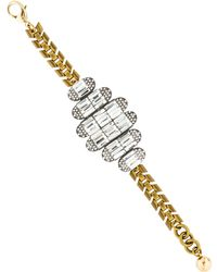 Lulu Frost - Vintage Deco Bracelet Brass - Lyst