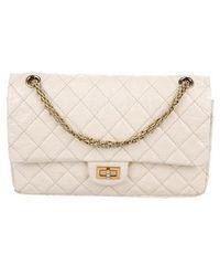 9c794b3522dd Lyst - Chanel Reissue 226 Double Flap Bag Black in Metallic
