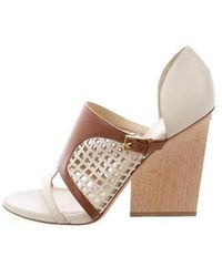 Maiyet - Perforated Leather Sandals - Lyst