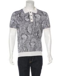 Dior Homme - Patterned Knit Polo Shirt Black - Lyst