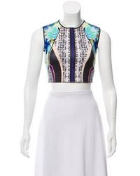 Clover Canyon - Neoprene Printed Crop Top - Lyst