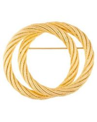 Dior - Textured Brooch Gold - Lyst