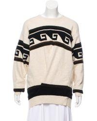 Isabel Marant - Patterned Oversize Sweater - Lyst