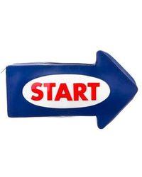 Yazbukey - Start Arrow Clutch Blue - Lyst