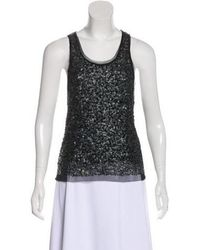 Gryphon - Sleeveless Embellished Top - Lyst