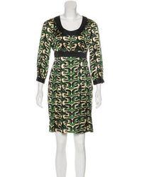 Diane von Furstenberg - Steffi Silk Dress Multicolor - Lyst