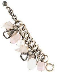 Lanvin - Multistone Charm Bracelet Gold - Lyst