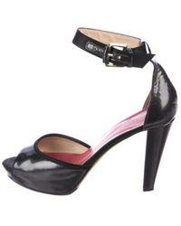 8ddb2d74f2f Lyst - Kate Spade Leather Square-toe Pumps Black in Metallic