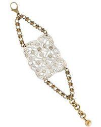 Lulu Frost - Crystal Pierced Bracelet Silver - Lyst