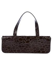 Jil Sander - Embossed Leather Baguette Bag Olive - Lyst